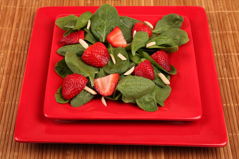 Download Strawberry Spinach Salad stock photo. Image of close - 19234046