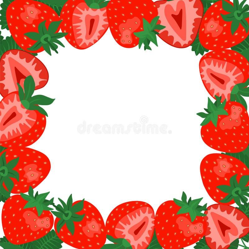 Strawberry Square Border Frame. Stock Vector - Illustration of ...