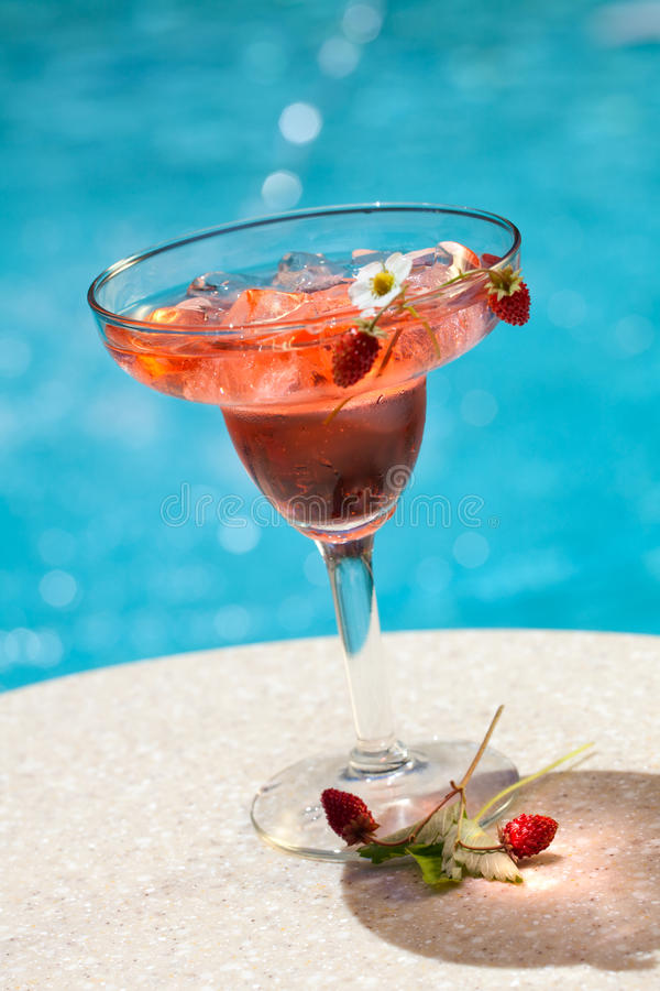 Strawberry Summer Cocktail stock photos