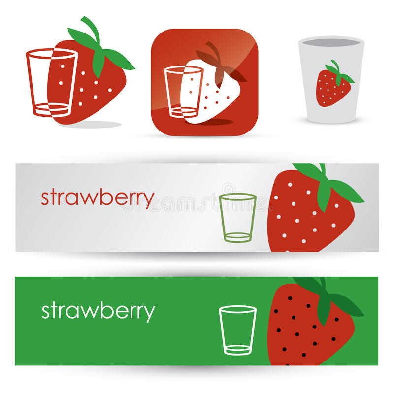 Download Strawberry symbols stock vector. Image of food, color - 28240841
