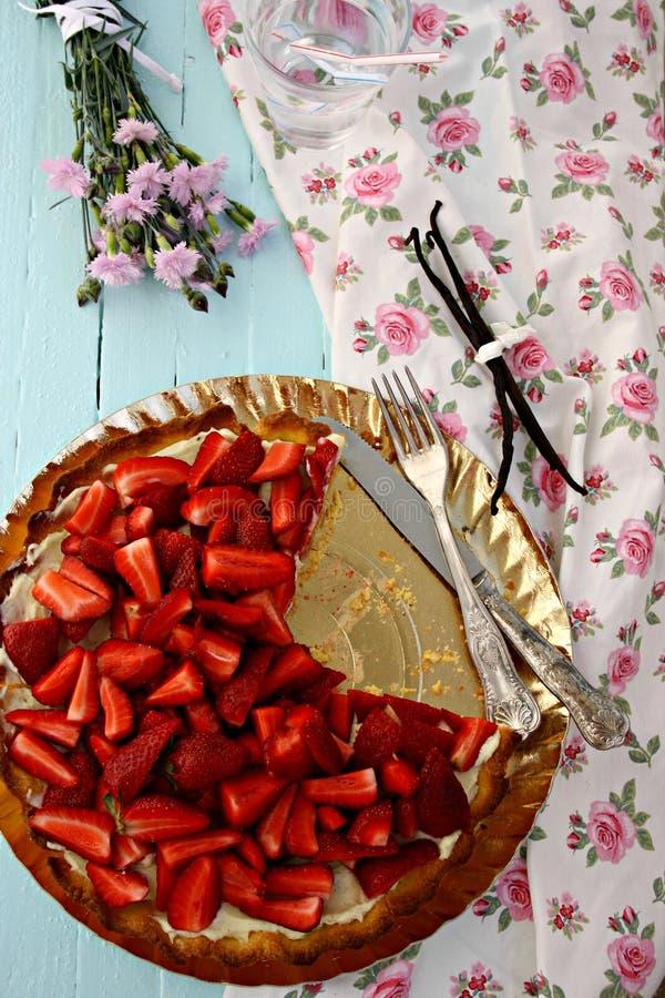 Strawberry tart royalty free stock photos