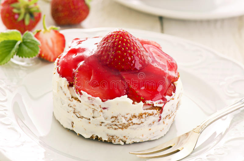 Strawberry Tartlets stock images