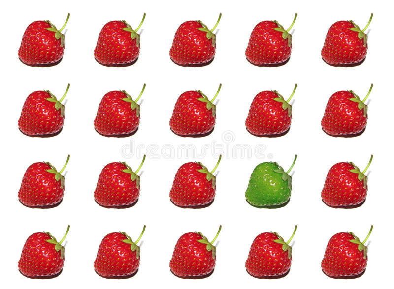 Strawberry theme in high-key stock images