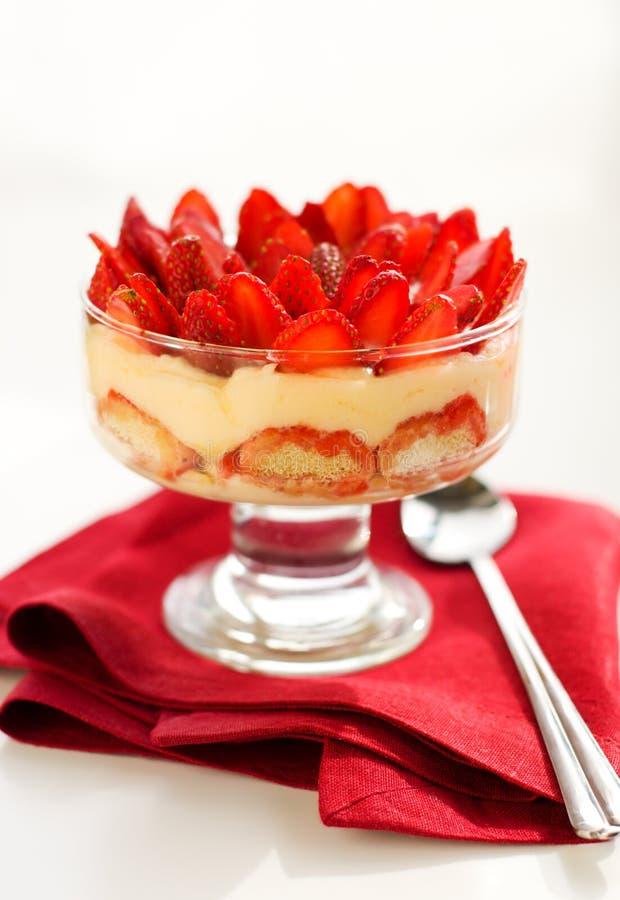 Strawberry Tiramisu Stock Photography