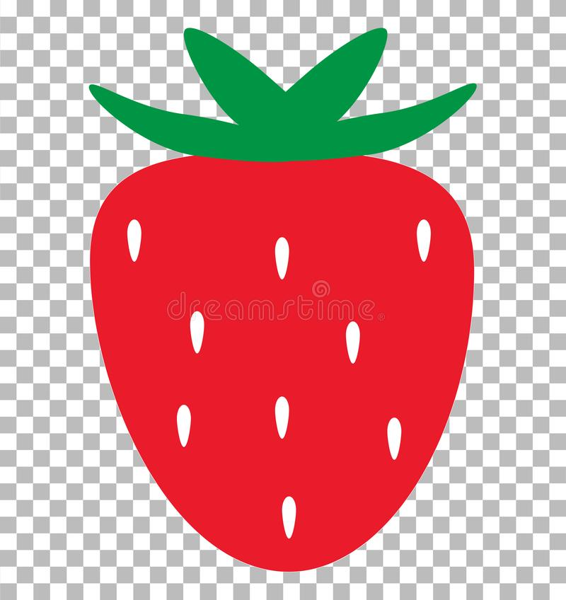 Strawberry on transparent background. strawberry sign. Flat style. trawberry icon for your web site design, logo, app, UI stock illustration