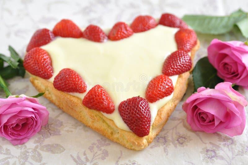 Strawberry Vanilla Cake royalty free stock photography