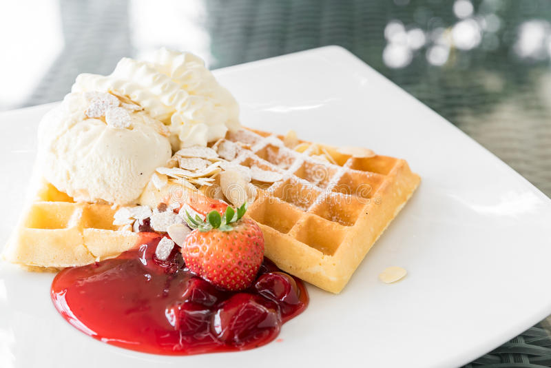 Strawberry Waffle stock images