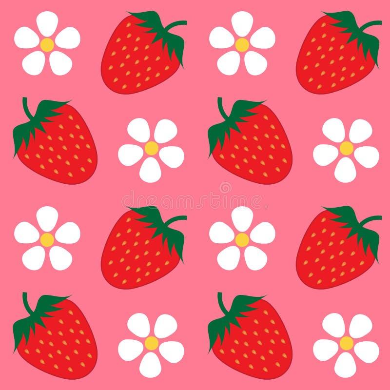 Strawberry wallpaper background stock illustration