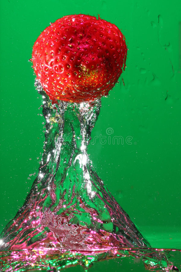 Download Strawberry in water stock image. Image of nature, clean - 8449421
