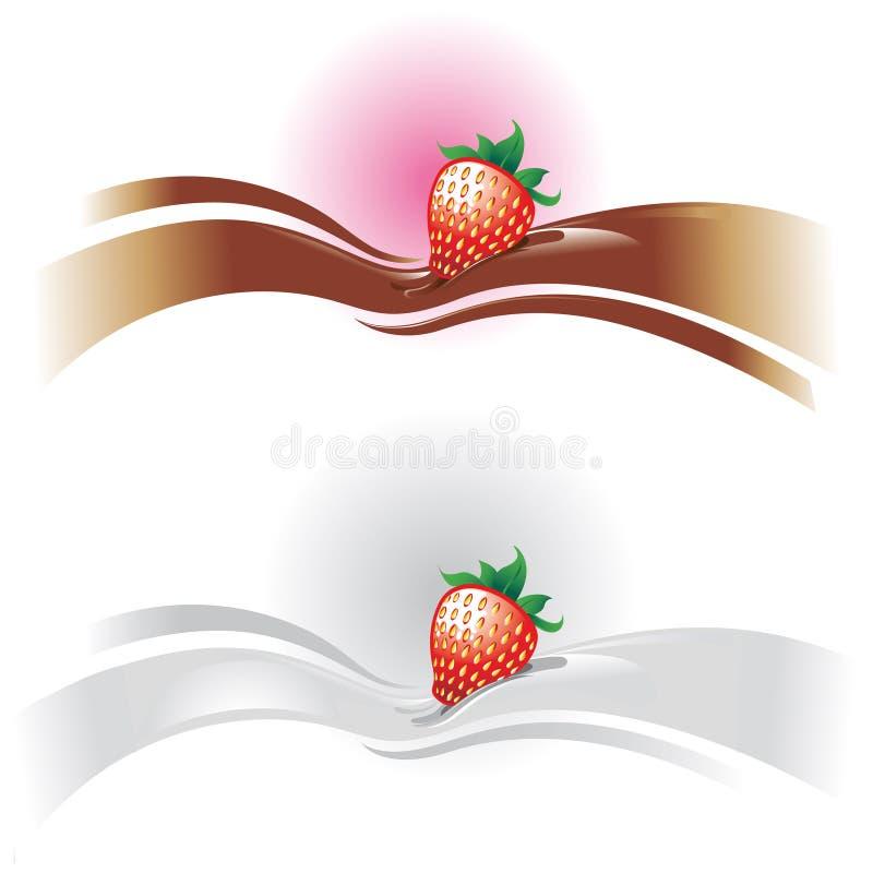 Strawberry wave vector illustration