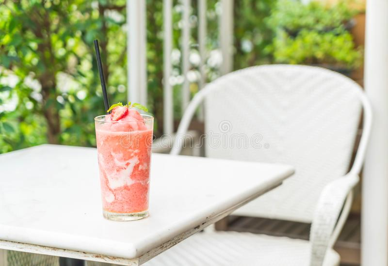 strawberry yogurt smoothies stock photography