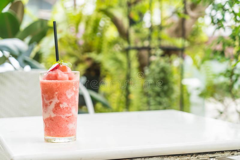 strawberry yogurt smoothies royalty free stock photography