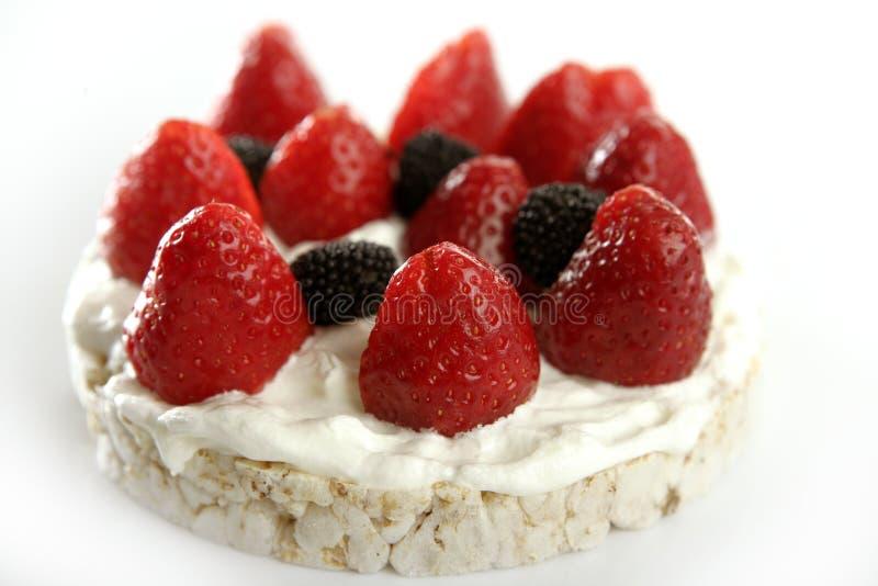 Strawberryes dessert. At studio white background royalty free stock photo