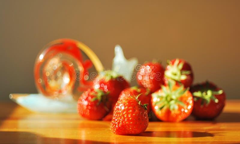 Strawberrys seasonal fruits stock photo
