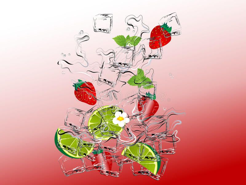 Download Strawbwrry mojito stock vector. Image of citrus, background - 25105096