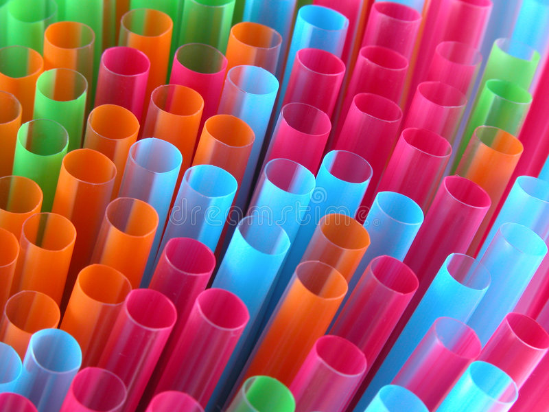 Straws. Colorful drinking straws close-up royalty free stock images