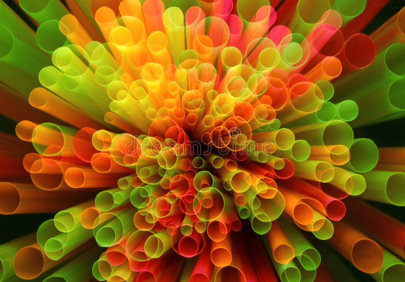 Straws abstract. Colorful plastic straws. Abstract bacground royalty free stock photos