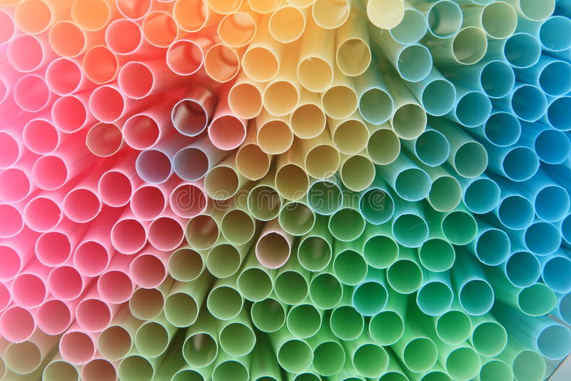 Straws background in rainbow colors. Straws background with rainbow colors stock photo