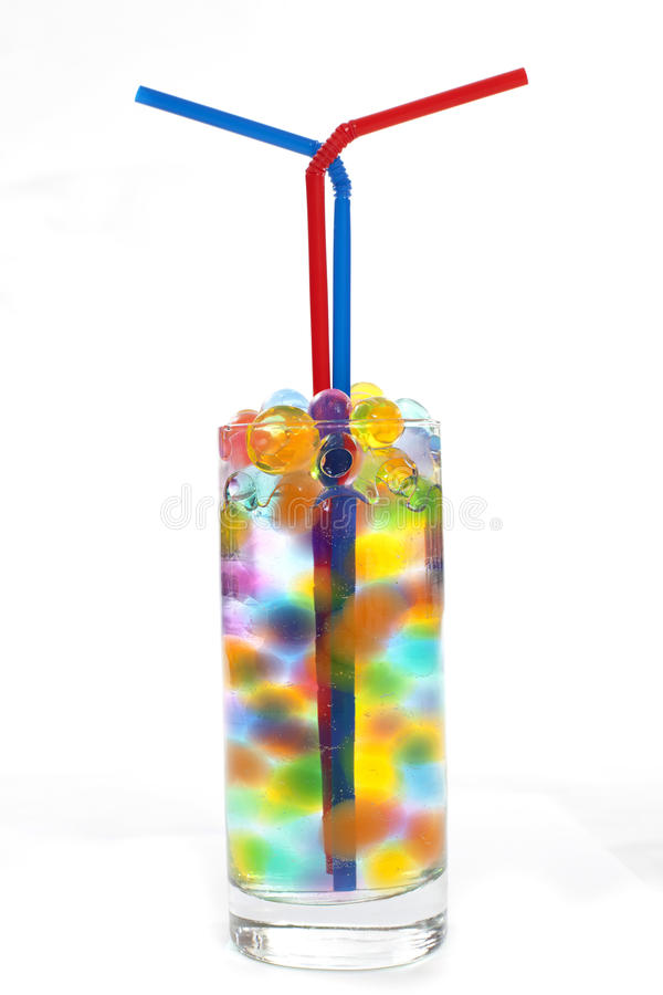Free Straws In A Glass Of Water Royalty Free Stock Photography - 18878447
