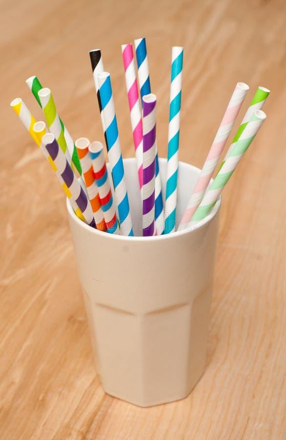Straws in a mug royalty free stock photo