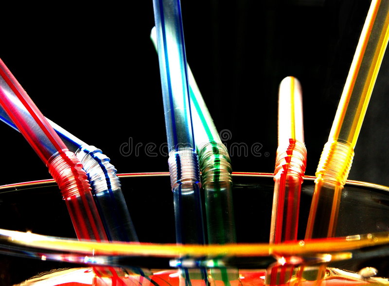 Download Straws (six) stock image. Image of colorful, round, straw - 225031