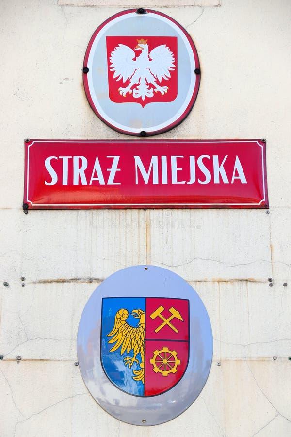 Straz Miejska en Polonia foto de archivo