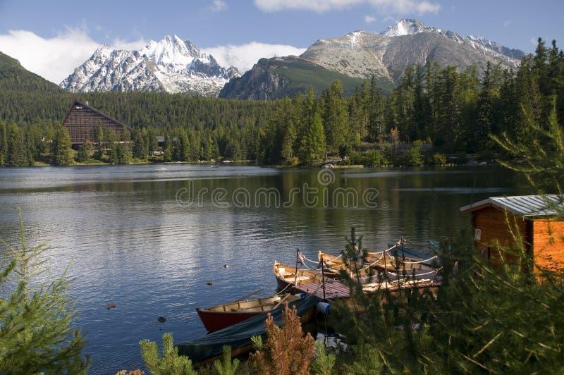 strbske pleso озера стоковое изображение