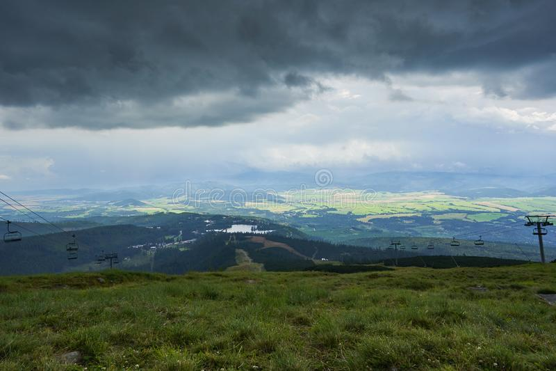 Strbske Pleso in High Tatras mountains in Slovakia. royalty free stock image