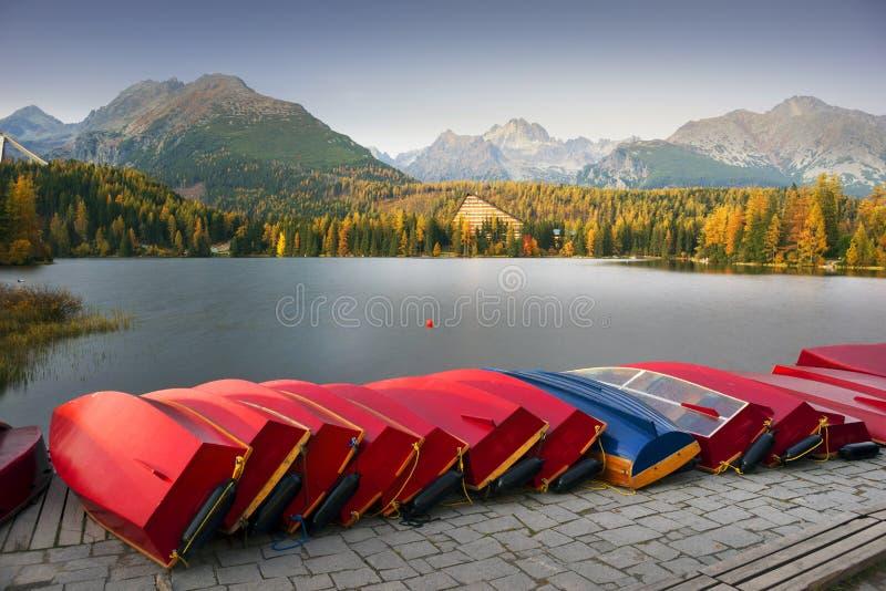 Strbske Pleso im Tatras stockfotografie