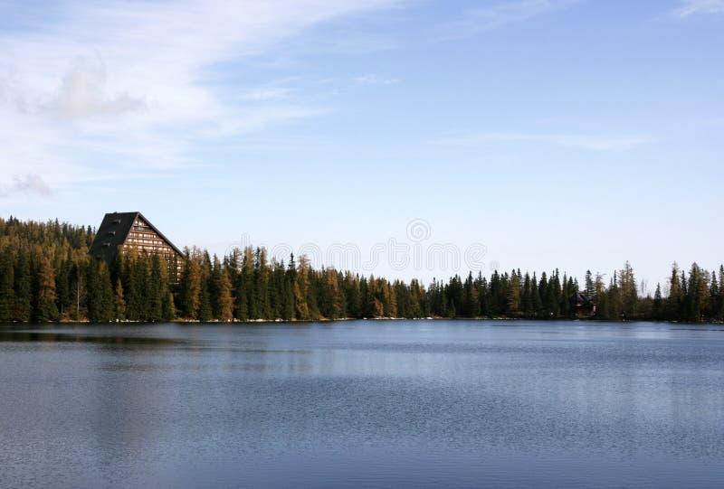 Strbske Pleso - lago imagem de stock royalty free