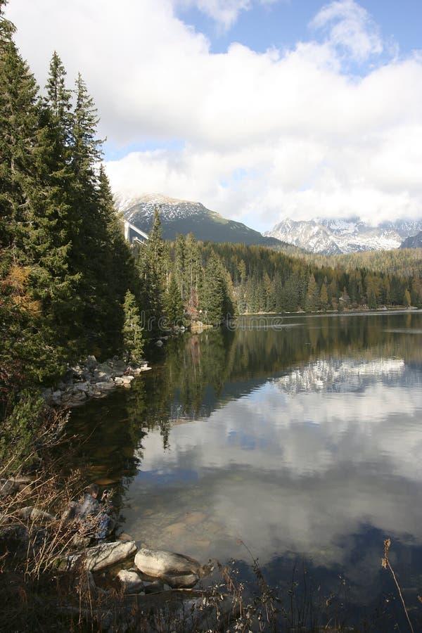 Strbske Pleso - lago imagens de stock