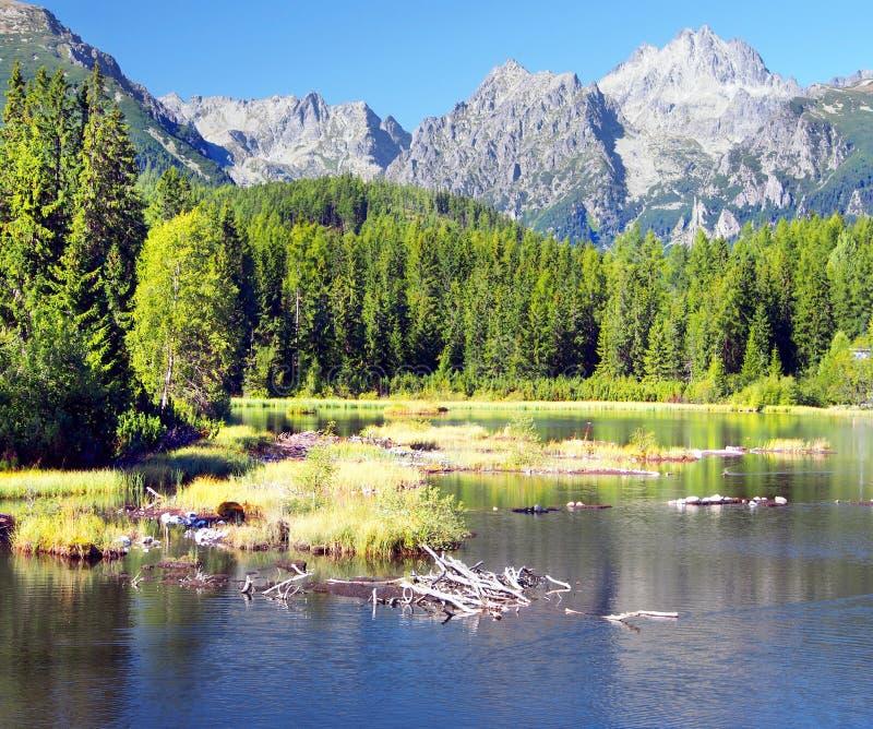 Download Strbske Pleso Und Strbsky Spitze In Hohem Tatras Stockbild - Bild von slowake, blau: 27734761