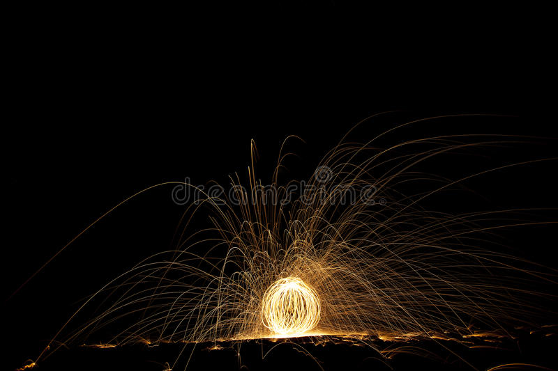 Download Streaks of light at night stock image. Image of ember - 33998017