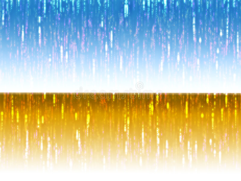 Streaks of multicolored light stock illustration