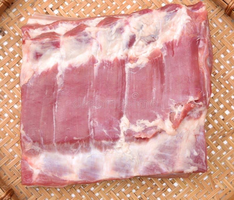 Streaky pork royaltyfri bild