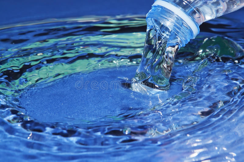 Download The stream of blue water. stock image. Image of dynamic - 24812011
