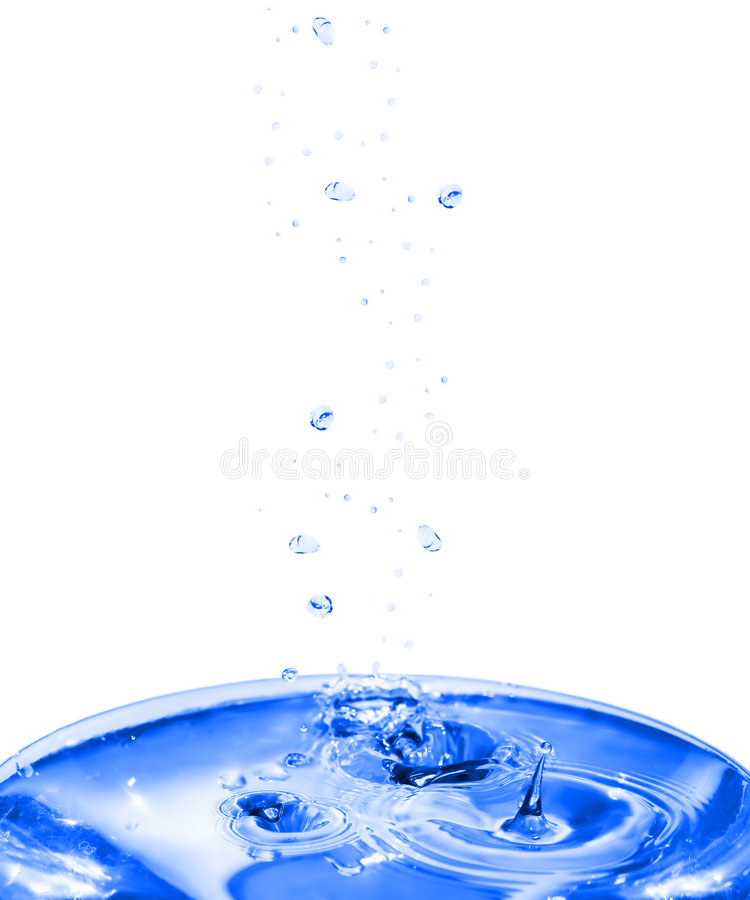 Download Stream Of Drops And Water Ripples. Stock Photo - Image: 6231186