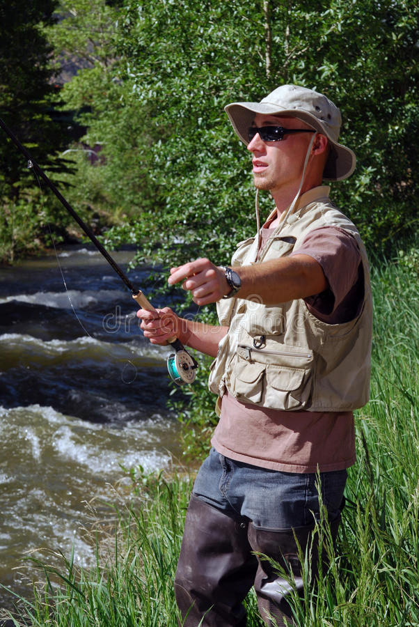 Stream Fishing stock images