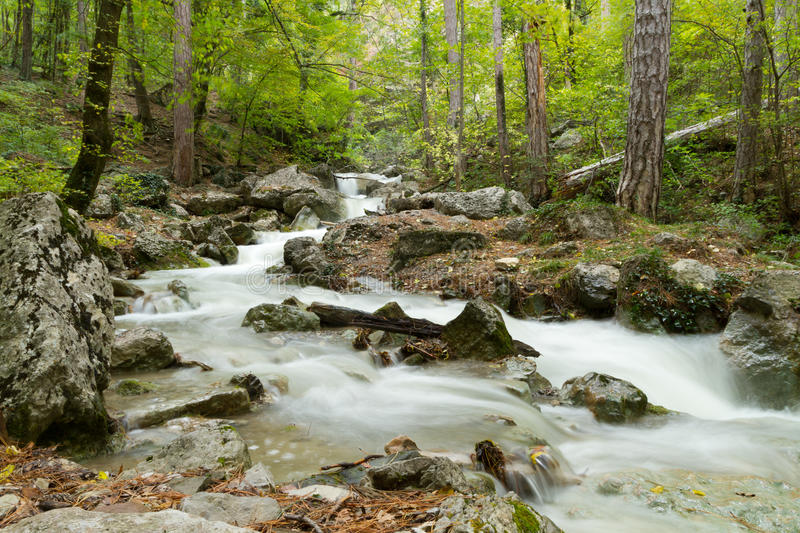 Download Stream Of The Mountain River ( Long Exposure ) Stock Image - Image: 40800177