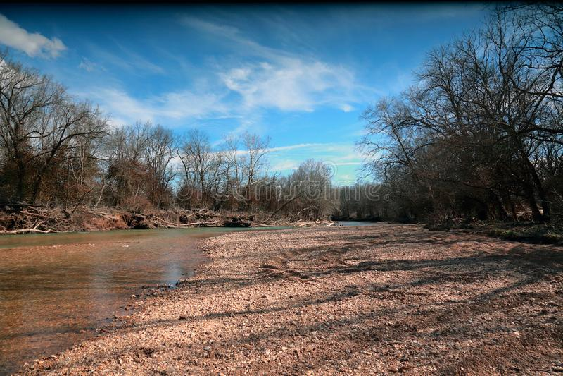 Stream in the Ozark Mountains, Missouri, USA stock photo
