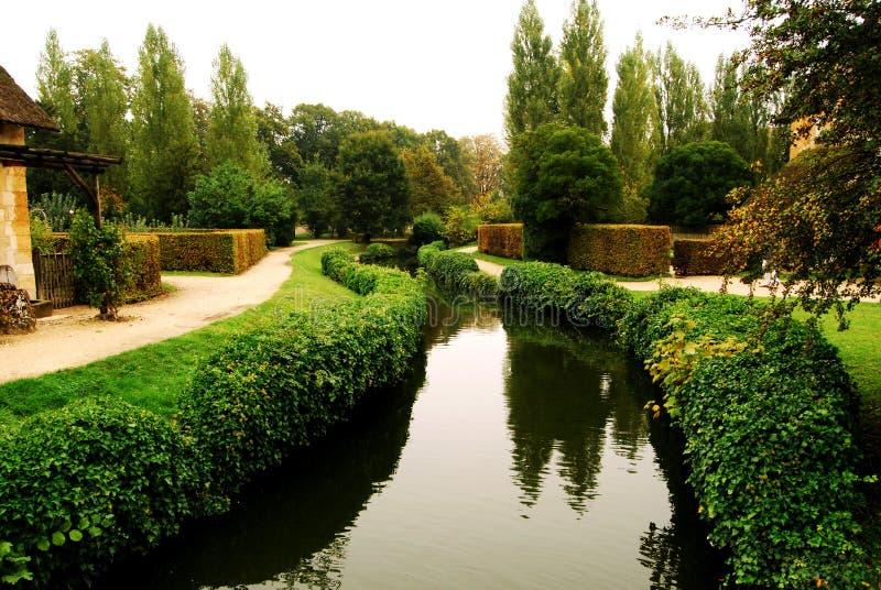 Stream in the Queen's Hamlet, Versailles, France stock photography
