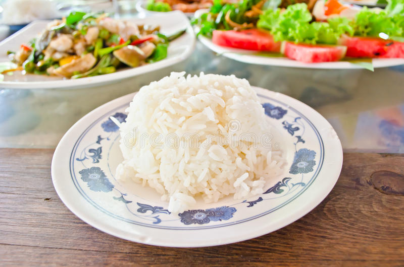 Download Stream rice on dish stock photo. Image of carbohydrate - 25151132