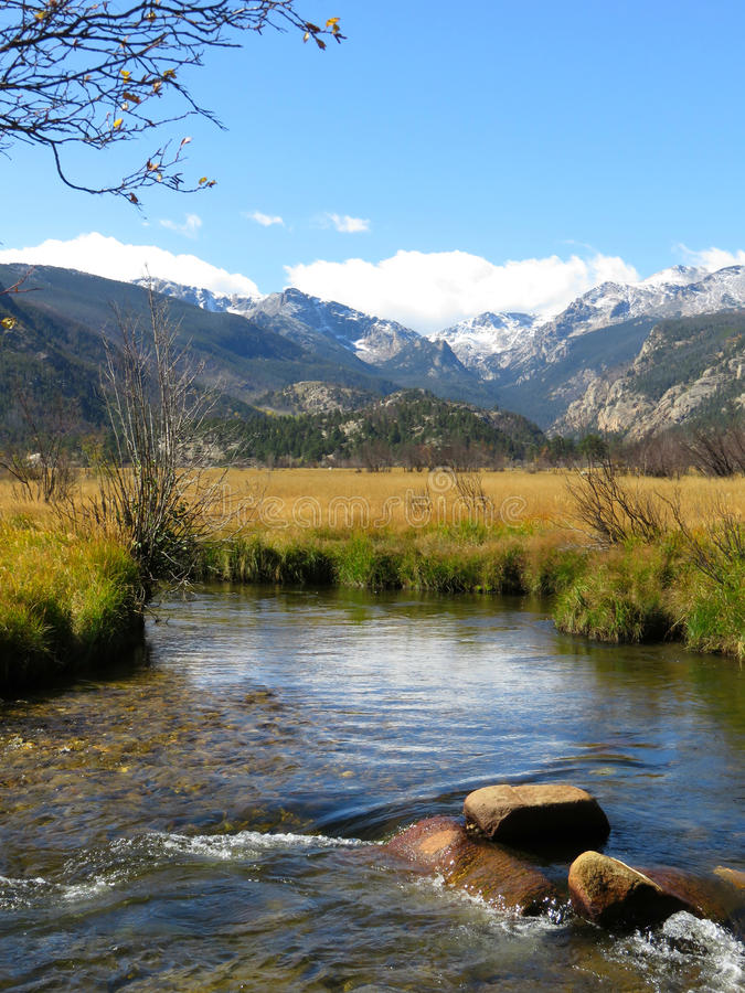 A stream in Rocky Mountain National Park stock photography