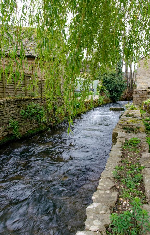 A stream running through Bourton on the water royalty free stock photos