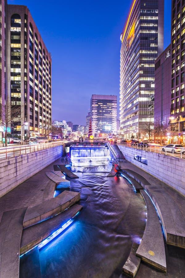 Stream in Seoul royalty free stock photos