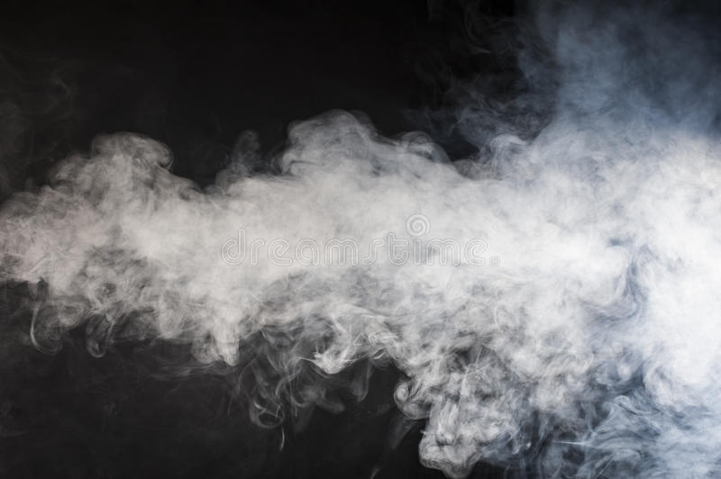Stream of smoke stock photography
