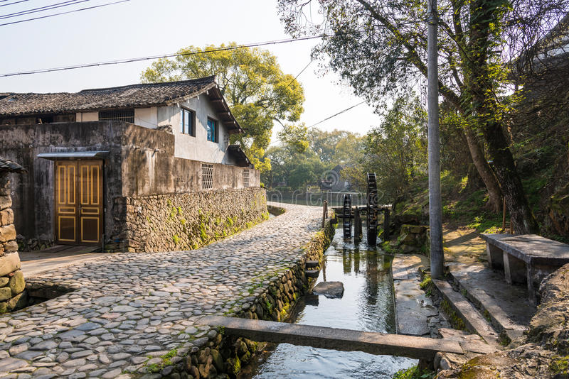 The stream and stone lane stock photography