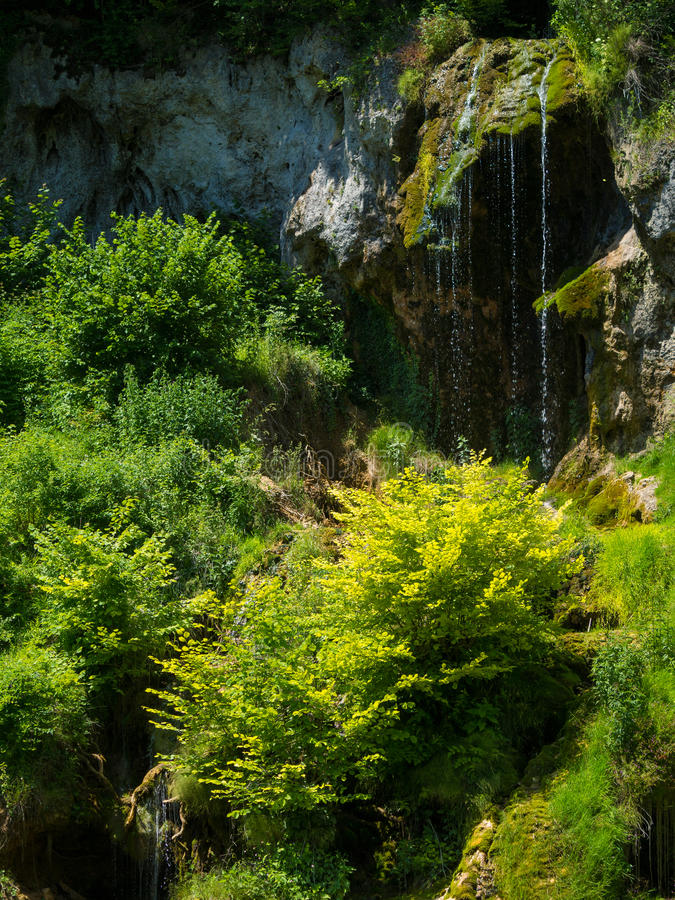 stream waterfall. Bigar mountain waterfall, Romania royalty free stock images
