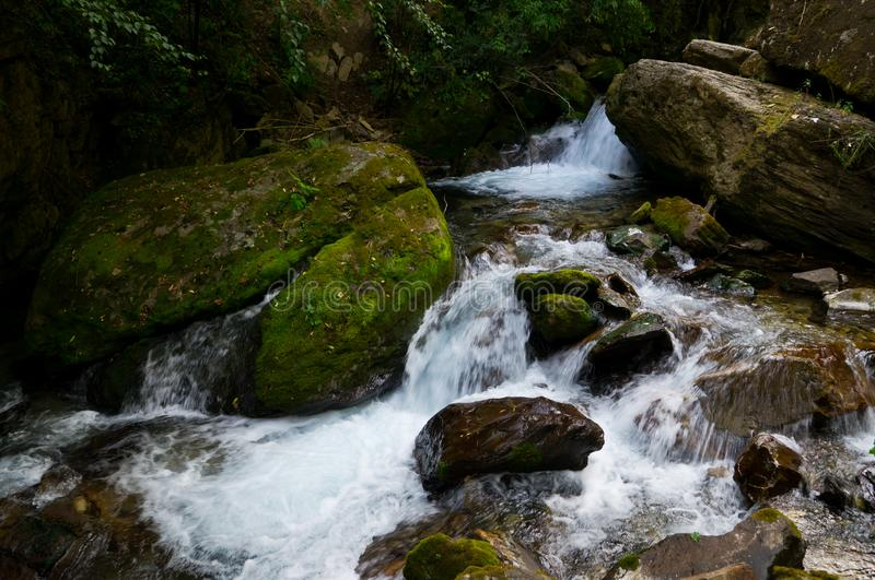 A stream in Wudang Mountain royalty free stock photography