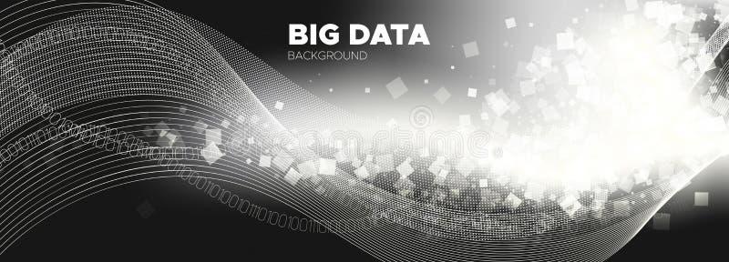 Streaming Backgrounds. Monochrome Digital stock illustration